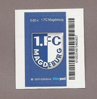 Privatpost- Fußball Fútbol Soccer Football - 1. FC Magdeburg - 1. FCM - Aufstieg - Wappen - Fussball