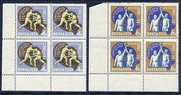 SOVIET UNION 1963 European Boxing Blocks Of 4 MNH / **  Michel 2767-68 - 1923-1991 USSR