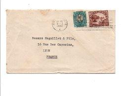 AFRIQUE DU SUD AFFRANCHISSEMENT COMPOSE SUR LETTRE POUR LA FRANCE 1952 - Nueva República (1886-1887)