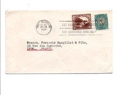 AFRIQUE DU SUD AFFRANCHISSEMENT COMPOSE SUR LETTRE POUR LA FRANCE 1953 - Nueva República (1886-1887)