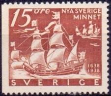 ZWEDEN 1938 15öre Driezijdig Getand Nieuw Zweden PF-MNH - Sweden
