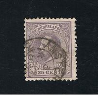 15. Dez 1872 König Willem III Mi NL 26 Sn NL 30  Yt NL 26 Sg NL 87 AFA NL 26 NVP NL 26H Gut Gestempelt O - Periode 1852-1890 (Willem III)
