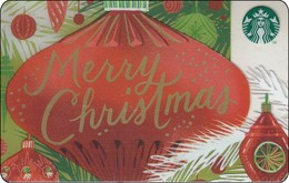Thailand Starbucks Card  Merry Christmas - 2017 - 6141 - Gift Cards
