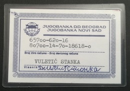 Serbia Jugobank Credit Card - Geldkarten (Ablauf Min. 10 Jahre)