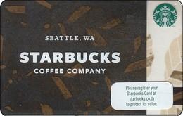 Thailand Starbucks Card  Starbucks Coffee Company - 2017 - 6141 - Gift Cards