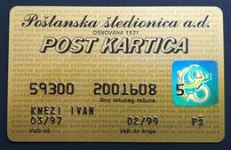 Serbia Postal Savings Bank Credit Card Exp 02/1999 - Credit Cards (Exp. Date Min. 10 Years)