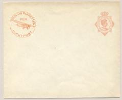 Nederlands Indië - 1932 - 12,5 Wilhelmina, Envelop G54c Met Luchtpostreklame - Ongebruikt - Nederlands-Indië
