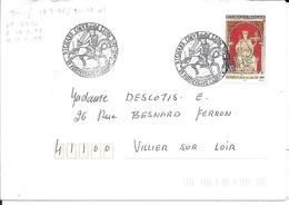 MAINE ET LOIRE 49 - FONTEVRAUD L'ABBAYE - CACHET RICHARD COEUR DE LION - 1999 - TIMBRE 3238 TARIF 18 3 96 = CACHET - Postmark Collection (Covers)