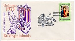 Virgin Islands, British 1973 Scott 262 FDC Christmas, Virgin & Child - British Virgin Islands