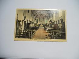 BELGIQUE   CARTE   ANCIENNE COULEUR  GAUFRE DE 1957 INTERIEUR DE LA CHAPELLE DE N D DE MORESNET EDIT MAISON PITZ - Plombières