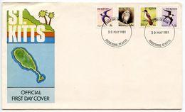 St. Kitts 1981 Scott 49/53 FDC Birds - St.Kitts And Nevis ( 1983-...)