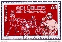 Austria Österreich 2017 80. Geburtstag Von Adi Übleis. USED / O / GESTEMPELT - 1945-.... 2. Republik