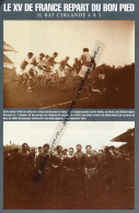 RUGBY : PHOTO (1946), TEST-MATCH, IRLANDE-FRANCE (3-4), DUBLIN, JUNQUAS, BERGOUGNAN - Rugby