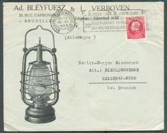 BELGIUM - LAMPE BLEYFUESZ & VERBOVEN Lettre De  BRUXELLES Nord En 1924 Vers Heidenau-Nord (DE) - 12924 - Timbres