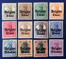ALLEMAGNE GERMANY ALEMANIA DEUTSCHES Reich, BELGIEN, COLLECTION (LOT 2) - Zone Belge