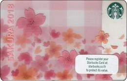 Thailand Starbucks Card  Sakura 2018 - 2017 - 6148 - Gift Cards