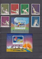 Romania 15.07.1972 Mi # 3035-40 Bl 97-98 Munich Summer Olympics (II) MNH OG - Zomer 1972: München
