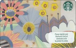 Thailand Starbucks Card  Summer Flower - 2017 - 6148 - Gift Cards
