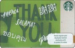Thailand Starbucks Card  Thank You - 2017 - 6148 - Gift Cards