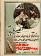 Cigarettes BOULE NATIONALE Lot De 3 Encarts Publicitaires Différents Datant De 1934 - Documents