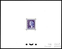 N°1263, 25c Decaris, épreuve De Couleur Dentelée En Violet Et Lilas. SUP. R.R.R (certificat)  Qualité: (*) - Artist Proofs