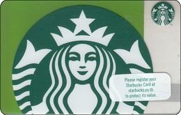 Thailand Starbucks Card  Siren Lady Green - 2017 - 6148 - Gift Cards