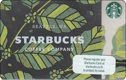 Thailand Starbucks Card  Green Leaves - 2017 - 6148 - Gift Cards