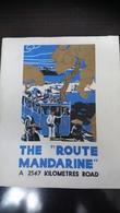 """Gouvernement Général De L'Indochine """"The Route Mandarine"""" - Dépliants Touristiques"""
