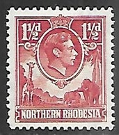 Northern Rhodesia  1941  Sc#29   1 1/2d   MH*  2016 Scott Value $30 - Northern Rhodesia (...-1963)