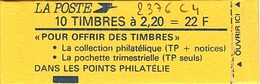 C 56 - FRANCE Carnet N° 2376 C 4 - Carnets