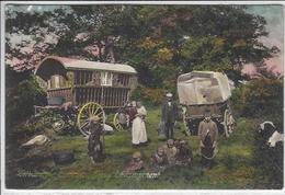 CPA Angleterre Royaume Uni UK Gipsy Bohémie, Tzigane Circulé Caravane - Europe