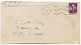 United States 1946 Cover From Town Of  War, West Virginia To Boston, Mass. W/ Scott 937 - Brieven En Documenten