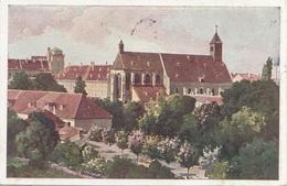 WIENER NEUSTADT, Neukloster, Künstlerkarte Gel.1928, T-Stempel, 20 Gro Nachporto - Wiener Neustadt