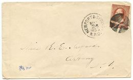 United States 1885 Cover W/ Newport & Spring. R.P.O. Pmk To Albany NY W/ Scott 210 - 1847-99 Algemene Uitgaves