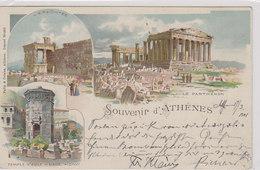 Souvenir D'Athènes - Litho - 1901      (A-70-xx) - Grèce