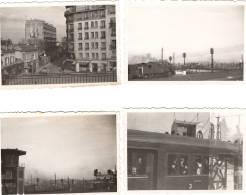 4 Photos à Identifier, On Voit Le Sacré Coeur Au Loin, Donc Sans Doute Ligne St Lazare Versailles Près Paris - Eisenbahnen