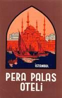 """D8019 """" PERA PALAS OTELI - ISTANBUL"""" ETICHETTA ORIGINALE - ORIGINAL LABEL - Hotel Labels"""
