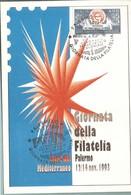 GIORNATA DELLA FILATELIA -PALERMO 1993 - Bolsas Y Salón Para Coleccionistas
