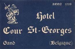 """D8021 """" HOTEL COUR ST. GEORGES - GANO - BELGIQUE"""" ETICHETTA ORIGINALE - ORIGINAL LABEL - Hotel Labels"""