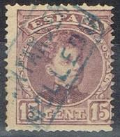 Sello 15 Cts Alfonso XIII, Carteria MOLLEDO (Santander), Num 245 º - 1889-1931 Reino: Alfonso XIII