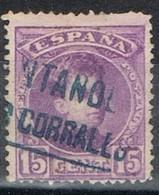 Sello 15 Cts Alfonso XIII, Carteria LOS CORRALES (Santander), Num 246 º - Usados