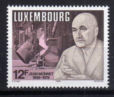 "Luxembourg 1988 100. Geburtstag Von Jean Monnet ""père"" De L'Europe MNH - Idee Europee"