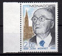 "Monaco 1988 100. Geburtstag Von Jean Monnet ""père"" De L'Europe MNH - Idee Europee"