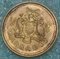 Barbados 5 Cents, 2007 - Barbades