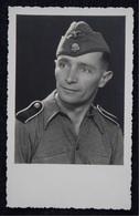 Germany, Third Reich - German Propaganda - Photo Postcard, A Member Of The Ss Division Totenkopf - War 1939-45