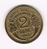 &   FRANKRIJK 2 FRANCS 1937 - France