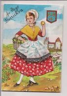 Carte Postale Brodée  -       AU PAYS BERRICHON - Borduurwerk