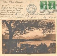 "AK  ""Luzern - Gegen Die Alpen"" - St.Gosse Bruxelles          1914 - Storia Postale"
