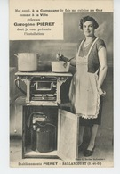 PUBLICITÉ - Jolie Carte PUB Pour Cuisine Au Gaz PIÉRET - ETABLISSEMENTS PIÉRET à BALLANCOURT (92) - Publicité