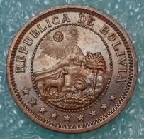 "Bolivia 1 Boliviano, 1951 Mintmark ""KN"" - Kings Norton, Birmingham - Bolivia"